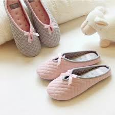 online get cheap women bedroom slippers aliexpress com alibaba cute bow tie winter women home slippers for indoor bedroom soft bottom cotton warm shoes house