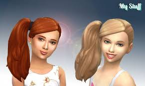 the sims 4 cc hair ponytail side ponytail at my stuff sims 4 updates