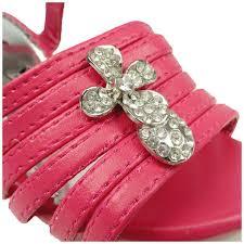 as by ksc kids dress sandals strappy rhinestones cross