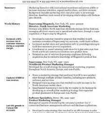 marketing resume exle singular objectives for marketing resume sle career manager
