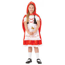 girls little red riding hood storybook book day character fancy