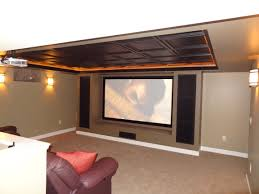 great ideas for a basement turned into a home theater home