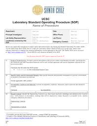 isem sop template environmental health u0026 safety