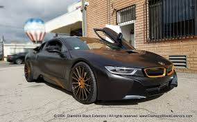 matte bmw i8 project bmw i8 wrapped in satin black with matte copper metallic