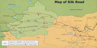 Luoyang China Map by Silk Road Map Map Of The Silk Road Silk Route Map