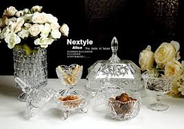 Crystal Flower Vases Bohemia Engraved Designs Europe Style Crystal Glass Vase