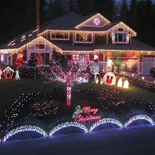 Christmas Outdoor Decorations Lights by Lighted Christmas Outdoor Decorations Sacharoff Decoration
