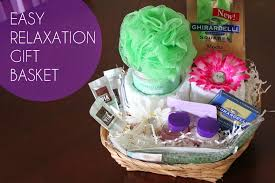 relaxation gift basket diy easy relaxation gift basket one whimsy