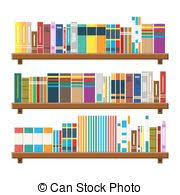 Bookcase With Books Clipart Vector Of Heart Shaped Book Shelf With Books Csp14252158