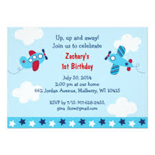 airplane birthday invitations u0026 announcements zazzle