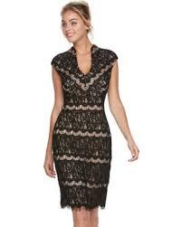 deals on s onyx nite lace sheath dress size 10 oxford