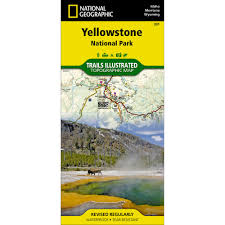 Map Of Yellowstone National Park 201 Yellowstone National Park Trail Map National Geographic Store