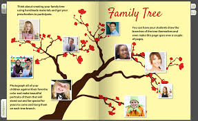 make yearbook we are family creating a yearbook family tree for pre k students