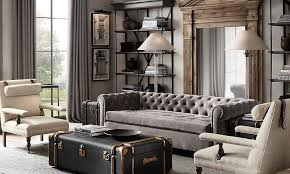 Home Design And Restoration Living Rooms Elegant And Rustic Grey Living Room Home Living