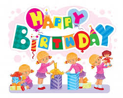template for happy birthday greeting card vector free download