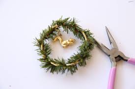 diy charm christmas tree wreath ornament