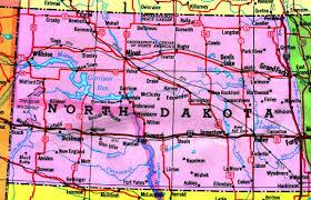 Nd Road Map North Dakota Map Free Large Images