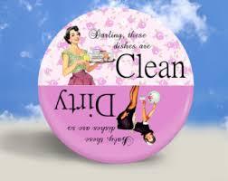 Dirty Clean Dishwasher Magnet Pinup Dishwasher Etsy