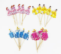 cinderella cupcake toppers 48pcs 4 designs cinderella princess cupcake toppers picks princess