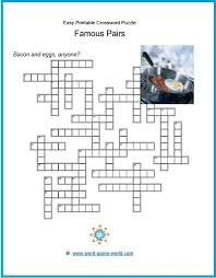Light Brown Crossword Easy Printable Crossword Puzzles For All Ages