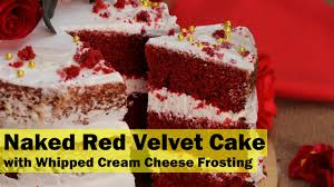 red velvet cake with whipped cream cheese frosting youtube