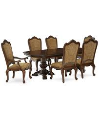 lakewood 7 piece dining room furniture set double pedestal
