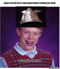 Tin Foil Hat Meme - foil hat by patterkillar meme center