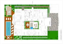 architectural layout landscape floor plan uae villa by asher