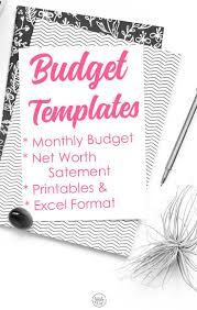 Company Budget Template Excel Free by Best 25 Monthly Budget Template Ideas On Pinterest Family