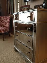 bedroom elegant mirror dresser home goods mirrored nightstand