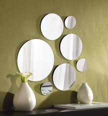 livingroom mirrors amazon com elements round wall mount mirror set of 7 assorted