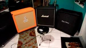Marshall 412 Cabinet Guitar 4x12 Cab Shootout Mesa Marshall Orange H U0026k Metal Part 3