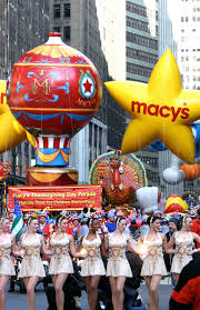 thanksgiving macy day parade new york city rockettes turkey float