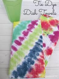 diy tie dyed dish towels organized 31