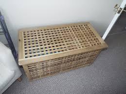 Laundry Hamper Ikea by Ikea Wooden Laundry Basket Seat In Wellingborough