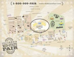 State Fair Map by Zac Brown Band July 20 California Mid State Fair