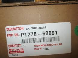 lexus gx next generation amazon com lexus oem factory roof rack cross bar set 2010 2014
