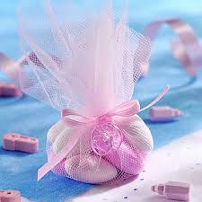 easy baby shower favors pink blue tulle for baby shower favors white wicker baby buggy