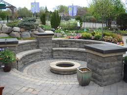 brick patio with fire pit design ideas fire pit a water