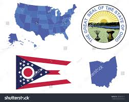Ohio On Map by Ohio State On Usa Map Ohio Flag And Map Us States Royalty Free
