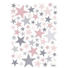 stickers étoile chambre bébé stickers etoile et gris de lilipinso