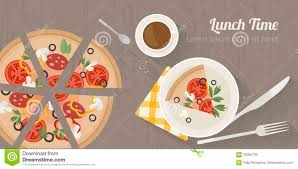 vector cooking time illustration with flat icons fresh food and