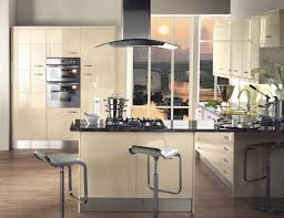fitted kitchen furniture treviso gloss cream kitchen unit set in