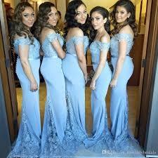 blue bridesmaid dresses 2017 sky blue bridesmaid dresses shoulder trumpet of
