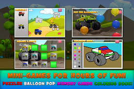 bigfoot monster truck cartoon monster trucks game for kids 2 android apps on google play