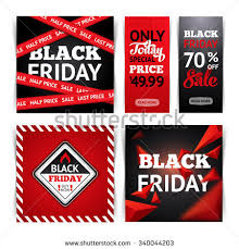 black friday sale sign templates black friday sale set banners stock vector 335441342