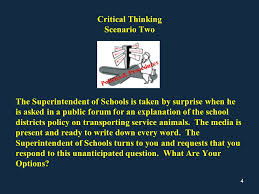 examples of critical thinking scenarios
