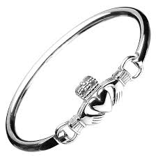silver wire bangle bracelet images Claddagh bracelets jpg
