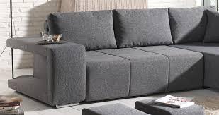canapé en tissu gris deco in canape d angle convertible tissu gris 2 poufs mila