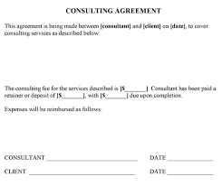sample consulting agreement template word